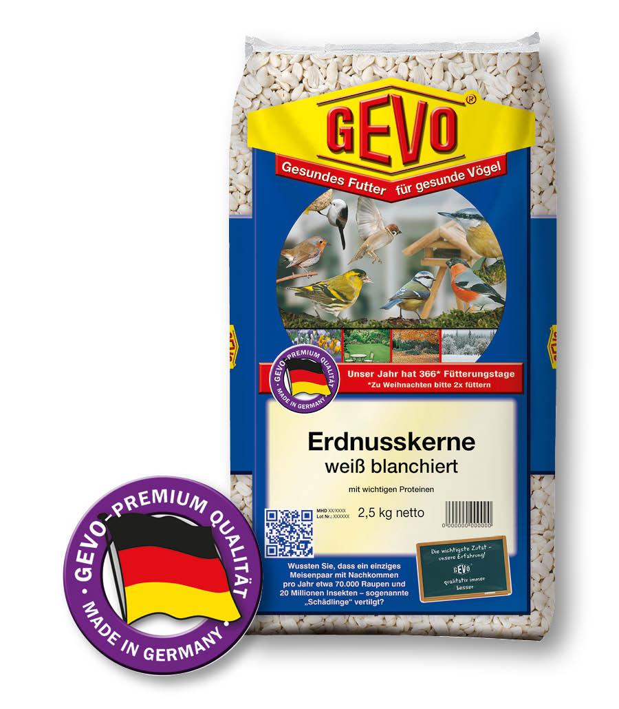 GEVO-ERDNUSSKERNE, weiß blanchiert